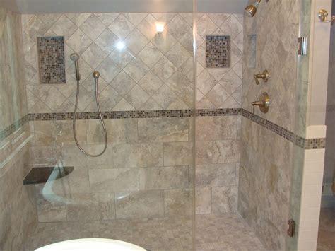 Bathroom Tile Ideas For Shower Walls Bathroom Charming Picture Of Bathroom Design And Decoration Using Doorless Shower Design