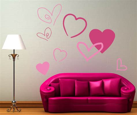 hearts wall stickers pack wall decals trading phrases