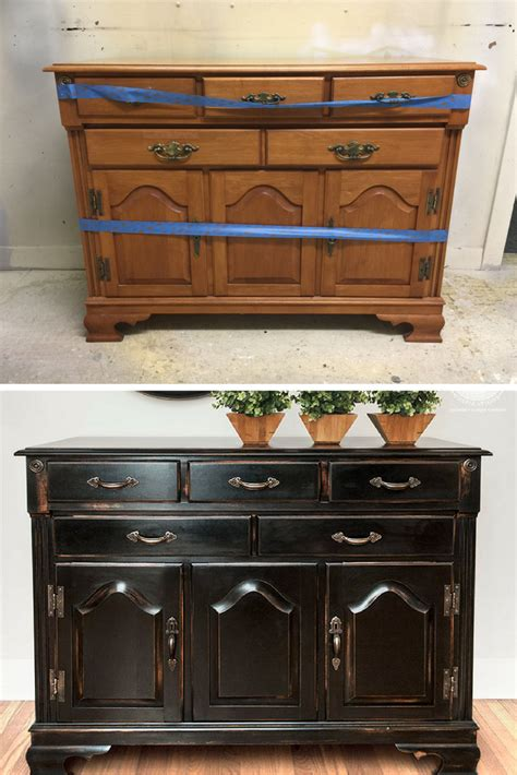 Before And After Pottery Barn Knock Off 5 Easy Steps On Painting Bedroom Furniture Before And After