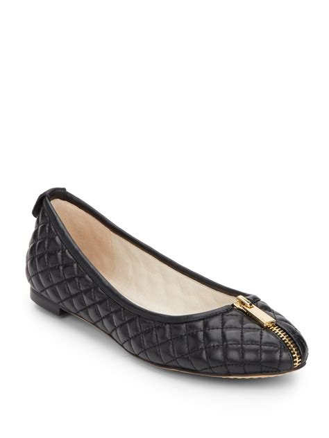 vince camuto shoes flats vince camuto zip trim quilted leather ballet flats in