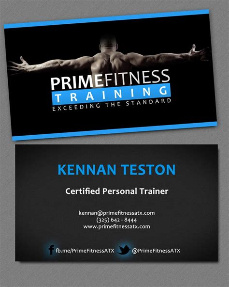 Fitness Business Card Template Photoshop by Branding Photography And Business Card Design For