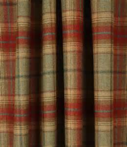 Striped Door Curtain Balmoral Fabric Jalapeno Just Fabrics