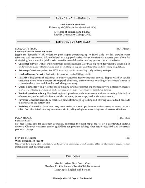 sample resumes for a management graduate