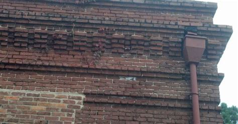 brick cornice brick cornice with downspout brick detail patterns