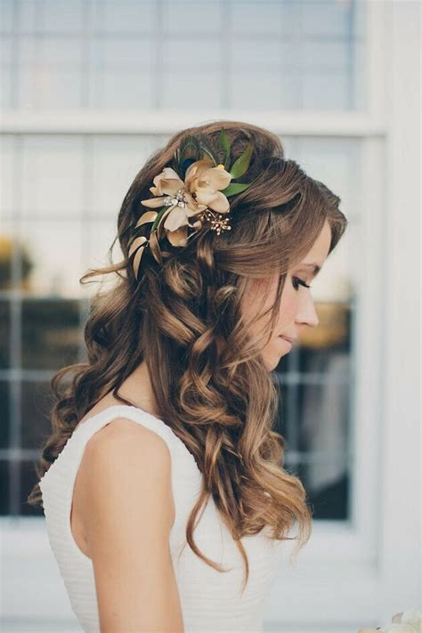 casual long hair wedding hairstyles 17 best ideas about casual wedding hair on pinterest