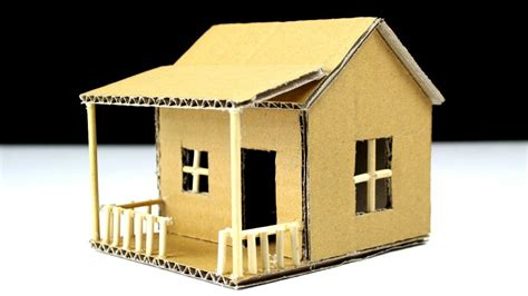 cardboard house how to make a small cardboard house beautiful easy way youtube