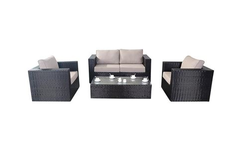 Rattan Settee Furniture ella rattan sofa set all weather rattan garden furniture