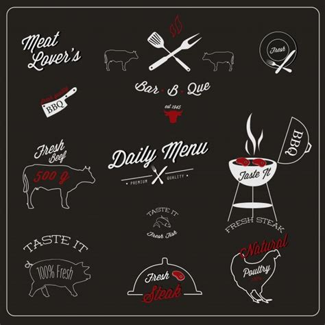 restaurant layout with labels grill logo vectors photos and psd files free download