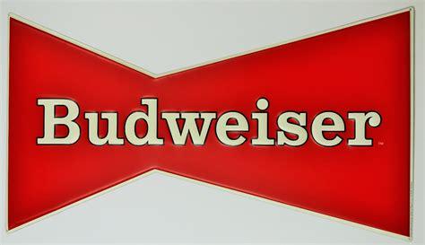 large budweiser tin sign bud light bar sign