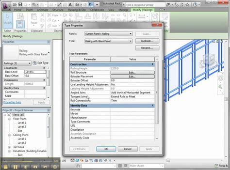 revit balustrade tutorial creating your own railing in revit architecture youtube