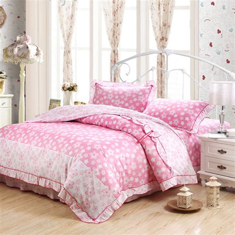girly queen comforter sets 4ps lace girly cotton single queen king duvet cover bed
