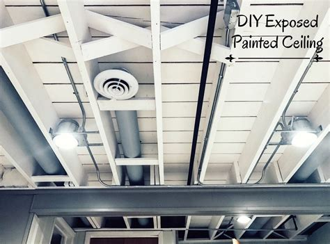 Project On Your Ceiling by Diy Painted Basement Ceiling Project Thyme
