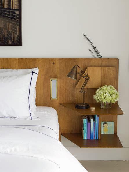 custom finish custom headboard table shelves and
