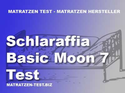 Schlaraffia Basic Moon 7 Test Matratzen Test