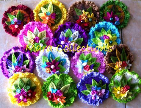 Bros Rajut Motif Bunga Murah pin kreasi bros flanel sederhana untuk souvenir pernikahan