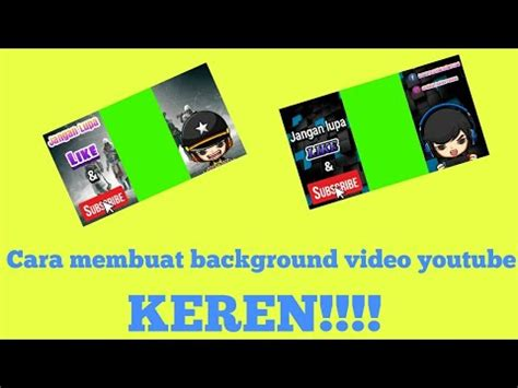 membuat background video youtube potrait keren youtube