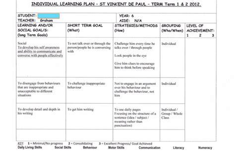 Individual Education Plan Template Simple Iep Template