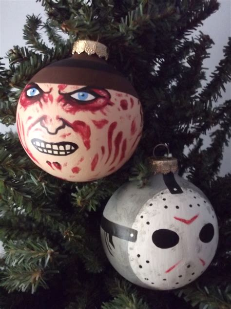 jason voorhees painted holiday ornament great halloween