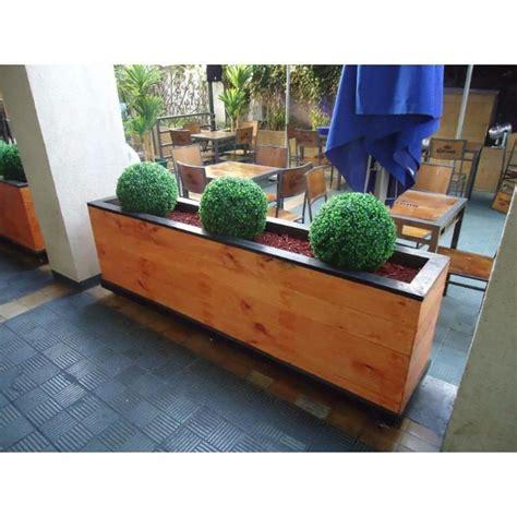 maceteros de madera para interior maceteros y jardineras de madera a pedido santiago de chile