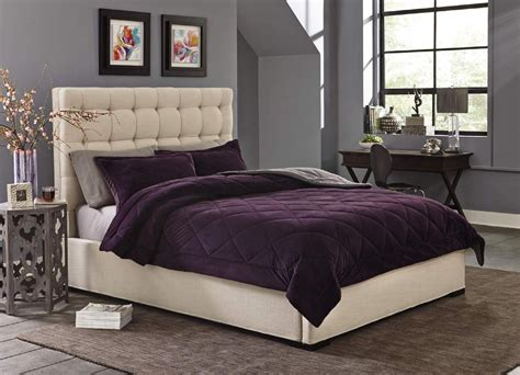 cannon silky velvet comforter set purple home bed