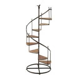 staircase shelf castellane rusted look metal and wood staircase shelf unit w 53cm maisons du monde