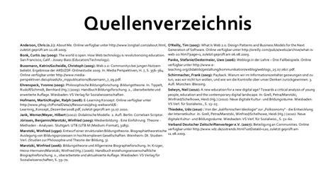 Muster Quellenverzeichnis Anders Bildung Und Web 2 0ld
