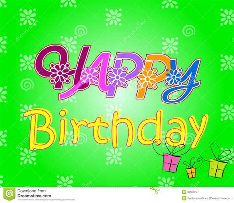 happy birthday design elements happy birthday stock vector image 39036727