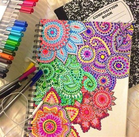doodle imagine draw notebook awesome diy notebook cover crafting