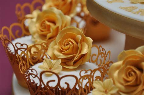 Wedding Anniversary Cupcakes by Golden Wedding Anniversary Cake And Cupcakes By Finesse