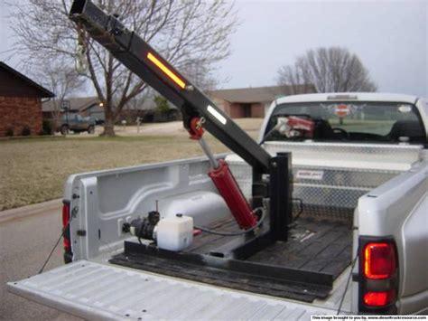 truck bed crane pickup crane installation in ctd dodge diesel diesel