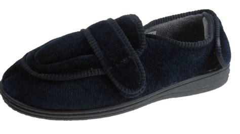 orthopedic slippers mens dr lightfoot mens orthopedic memory foam insole velcro