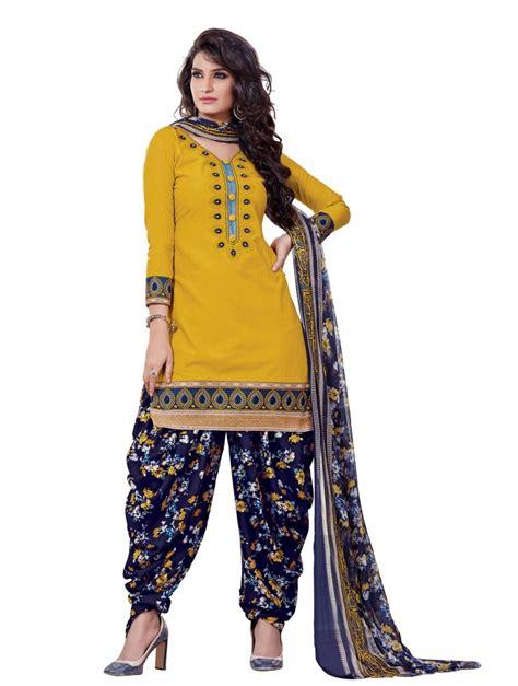 design dress material manufacturers buy online amazing yellow designer patiyala dress