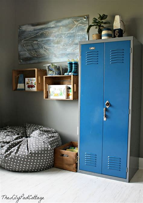 boys room storage boys room with locker storage kids rooms pinterest