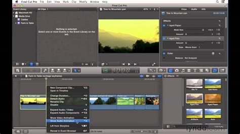 final cut pro audio effects final cut pro x tutorial keyframing video and audio