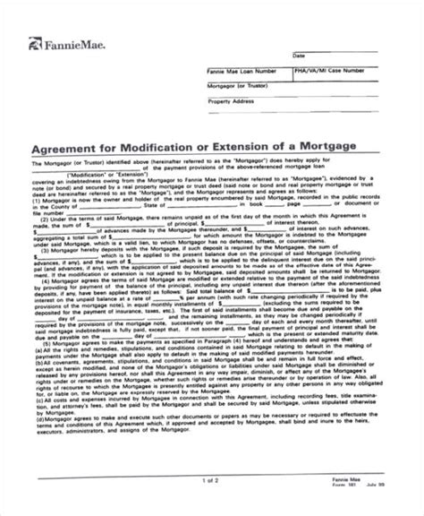 Mortgage Extension Letter doc 7681024 mortgage agreement form mortgage agreement