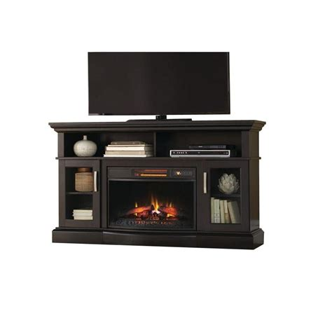 Rustic Electric Fireplace Home Decorators Collection Hawkings Point 59 5 In Rustic Media Console Electric Fireplace In