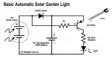solar garden light circuit solar light circuit
