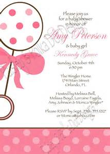 paisley and polka dot designs baby shower invitations