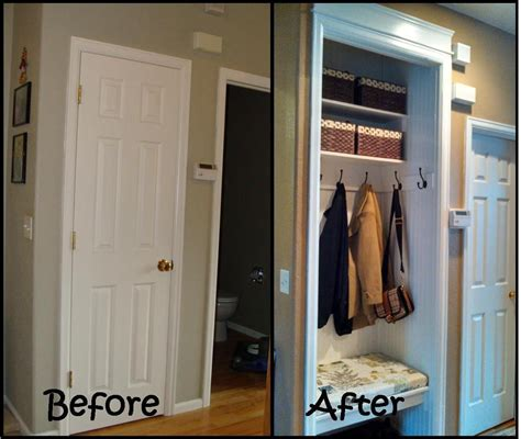 entry closet ideas split foyer home before and after entry pinterest
