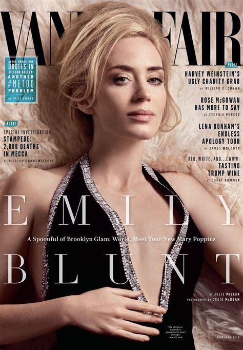 Vanity Fair by Emily Blunt Fashion Photoshoot Vanity Fair Cover