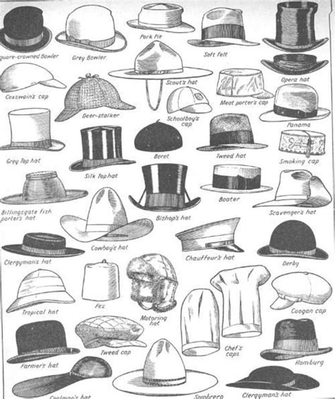 vintage hairstyles and their names a visual glossary of hat types for men more visual