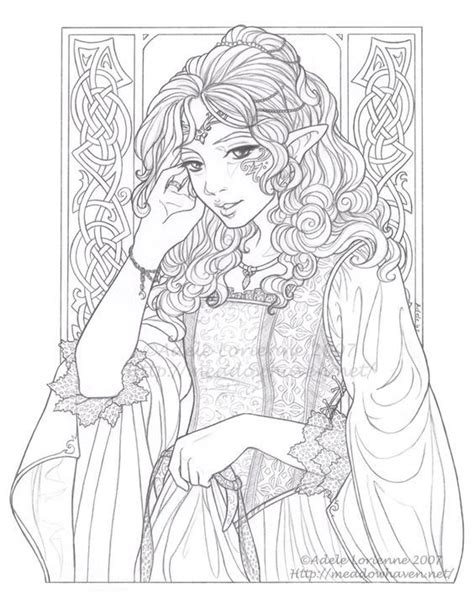 elf coloring pages for adults 397 best images about fairy elf fantasy adult coloring
