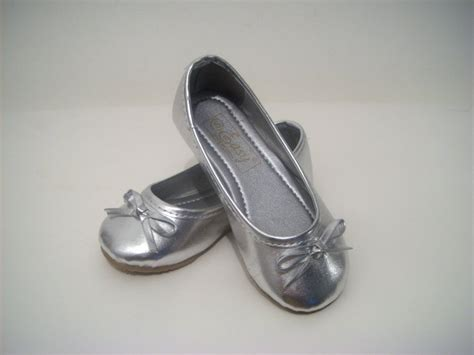 flower silver shoes silver ballet flower dress wedding shoes size 5