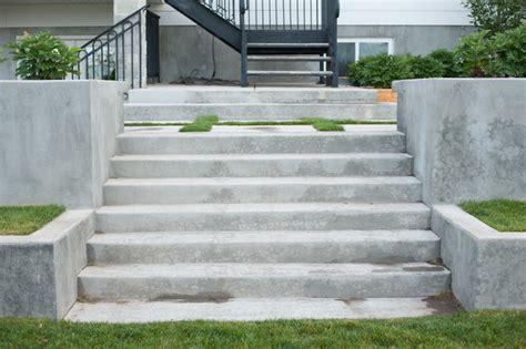 concrete stairs traditional landscape salt lake city