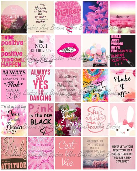 printable quotes planner pink printable life planner sticker sheet diy print at home