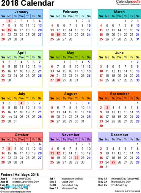 2018 calendar holidays malaysia 2018 calendar with federal
