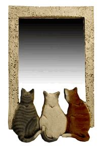cat home decor cat lovers cat decor cat wall decor cart art cat mirror cats and