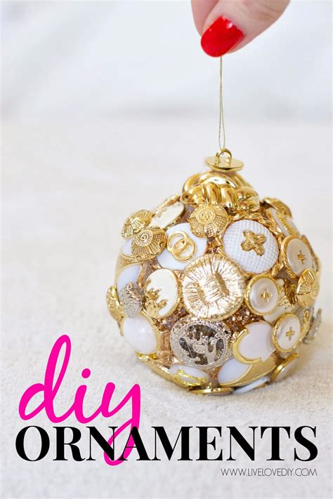 diy ornaments livelovediy diy ornament ideas