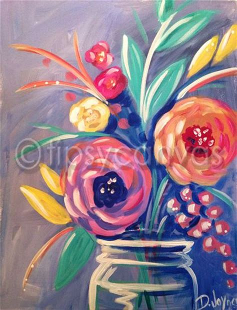 simple acrylic canvas painting ideas of flowers 25 best ideas about flower canvas on flower