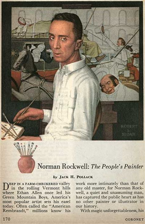 biography norman rockwell illustration milton caniff and norman rockwell in coronet